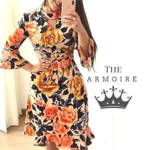 ♤ *Boutique Floral Sleeved Julia Dress*